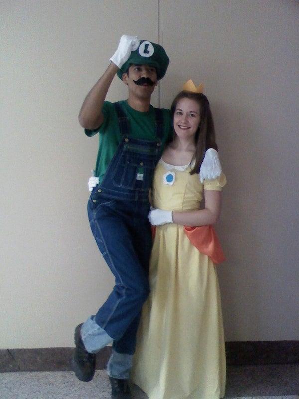 Luigi and Princess Daisy Costumes