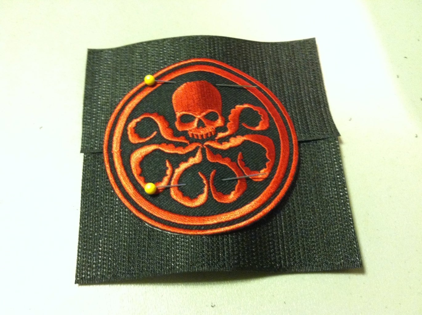 Adding Velcro Hook to Patches.