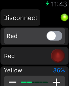 Controlling the LEDs From the Apple Watch