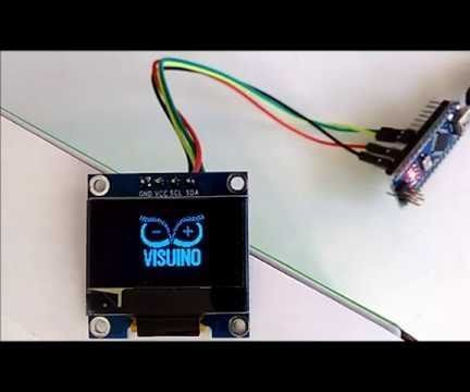 Arduino Nano: Bitmap Animation in SSD1306 I2C OLED Display With Visuino