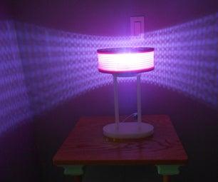Hinge Shade Empty Filament Spool Lamp