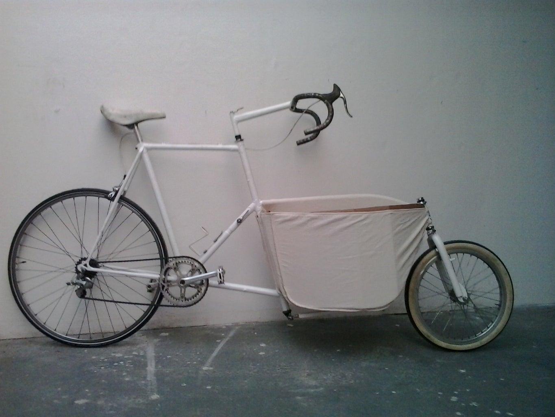 Put Bag on Bicycle