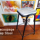 Decoupage Map Stool: an Experiment With Wood Glue