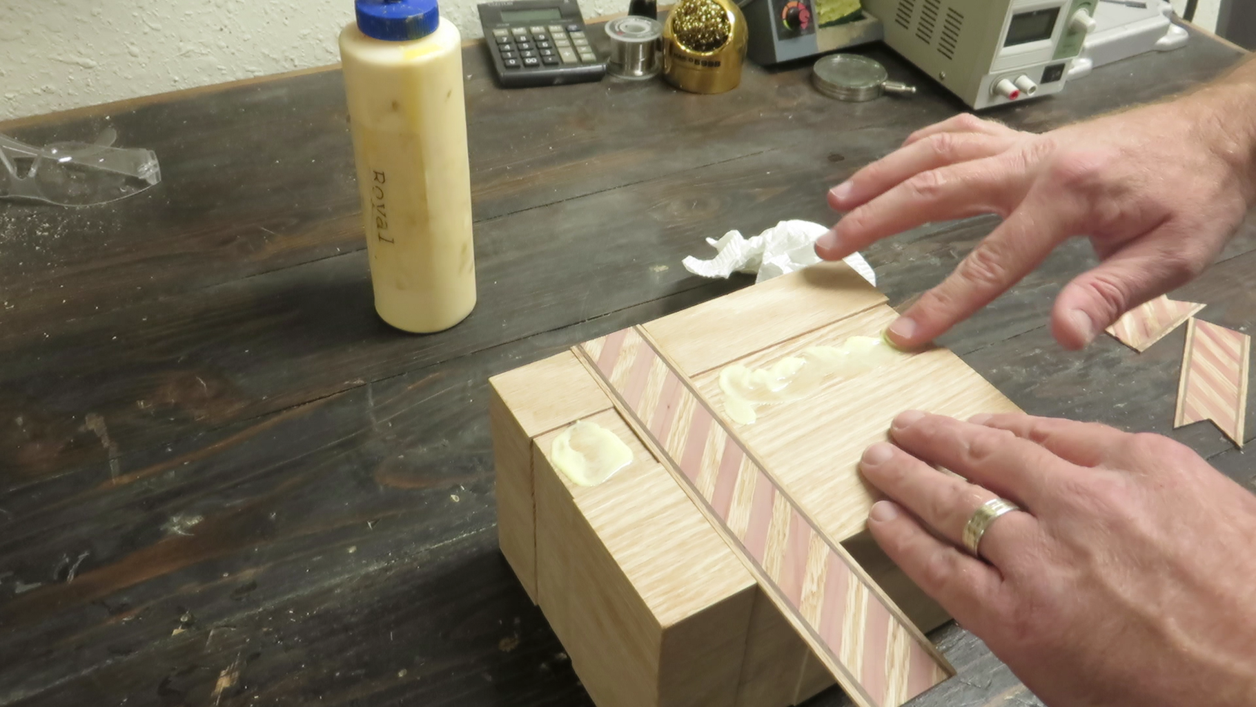 Glue the Inlays in Place and Finish the Box