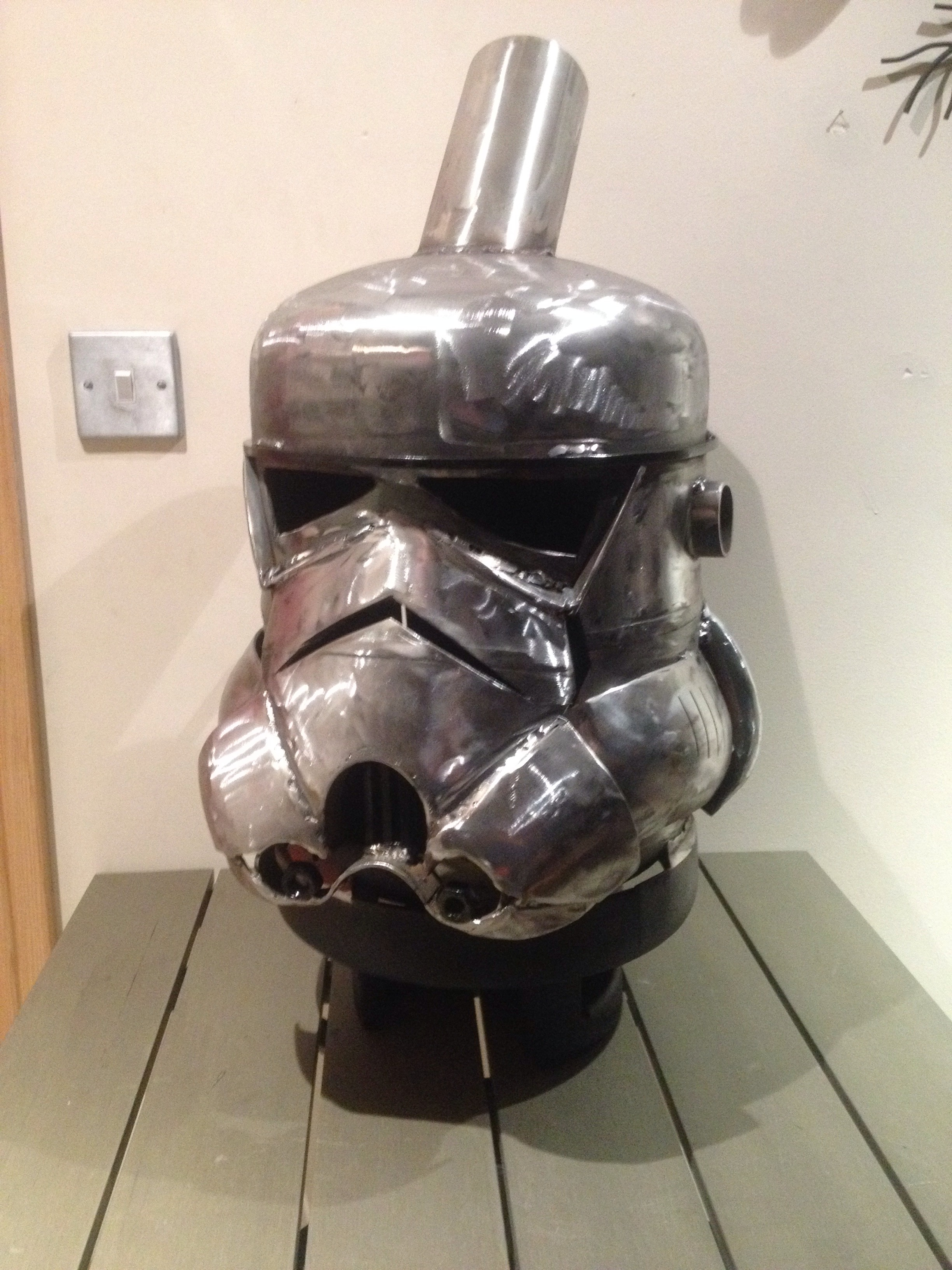 Stormtrooper Style Log Burner
