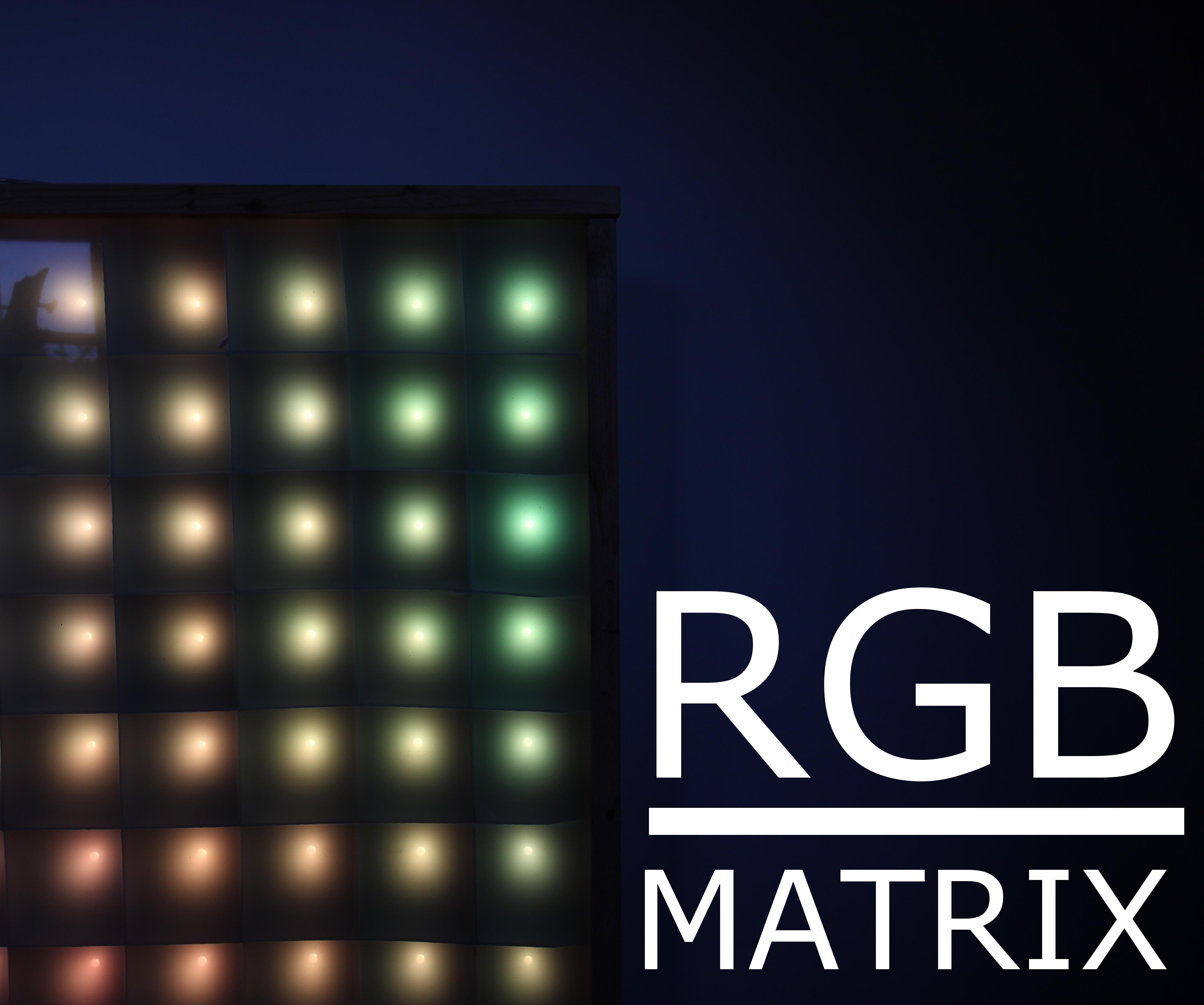 LED-matrix on a budget