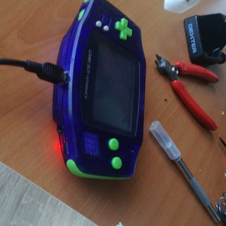 Game Boy Advance Rechargeable Battery Mod