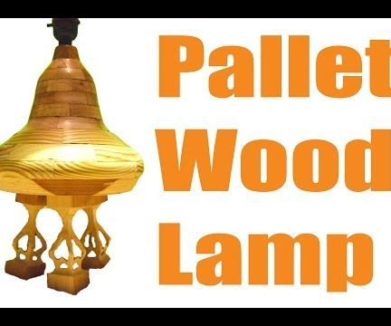 Turned Pallet Wood Lamp