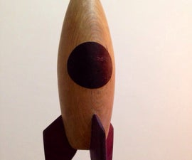 Wood Toy Rocket