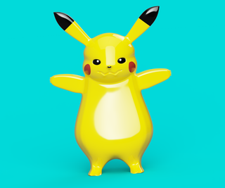 Pikachu Sculpting Using Fusion 360
