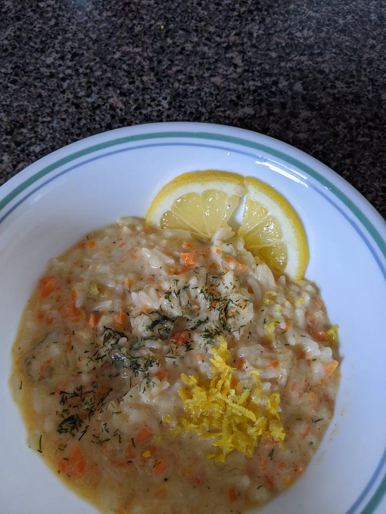 Zesty & Creamy Lemon Rice Soup