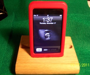Scrounged Wood IPod Touch Desktop Holder