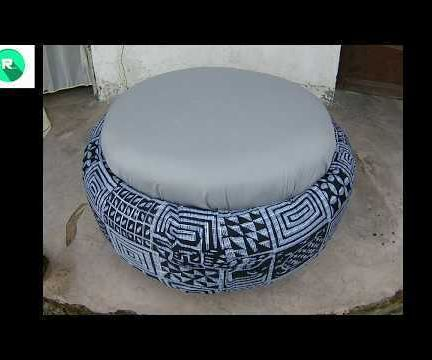 Old Car Tire Stool/Chair/Table