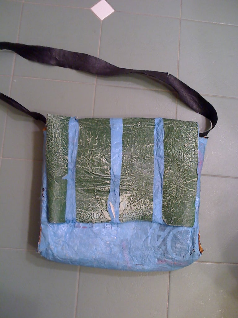 Recycled Plastic Messenger Bag or Purse