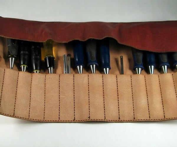 Laser Cut Leather Tool Roll