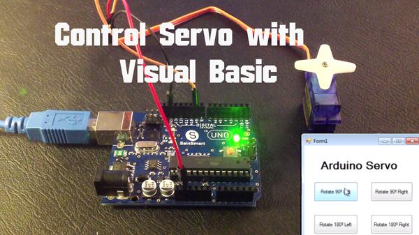 Arduino - Control Servo With Visual Basic
