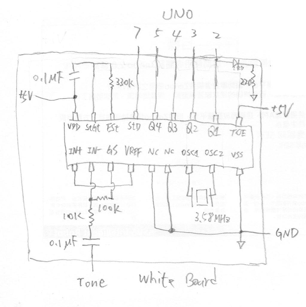 White Board (DTMF Decoder)