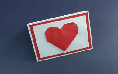 Mini Handmade Card for the Valentine's Day