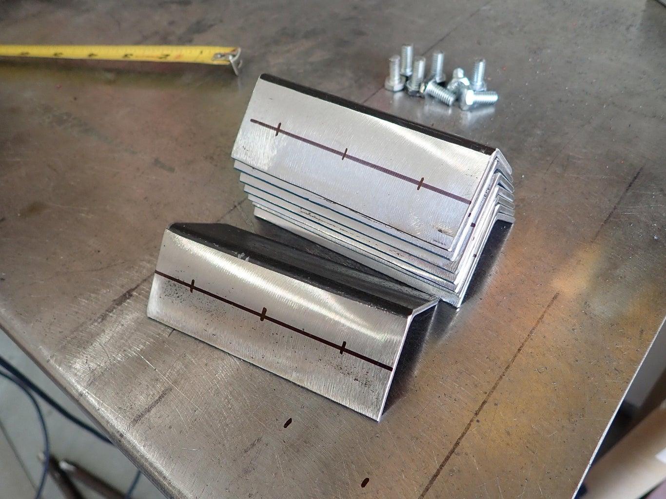 Prep Parts for Shelf Brackets