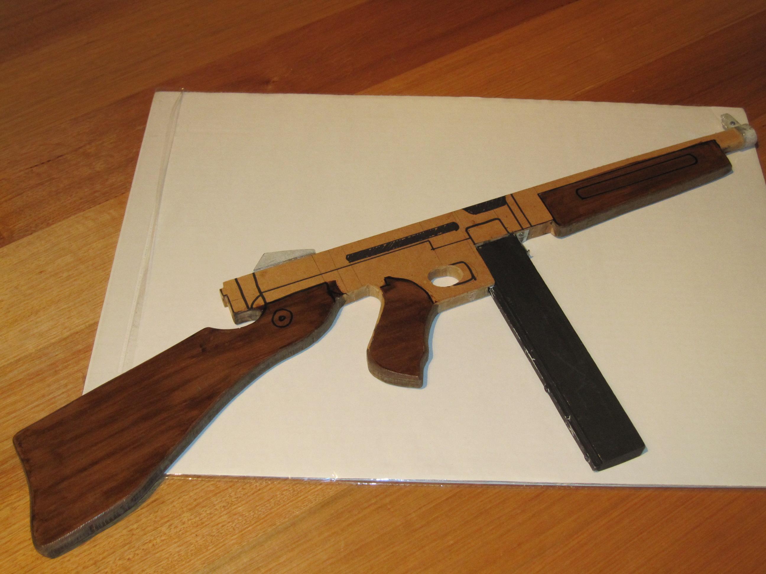 Thompson Sub-machine Gun (Wooden Toy)
