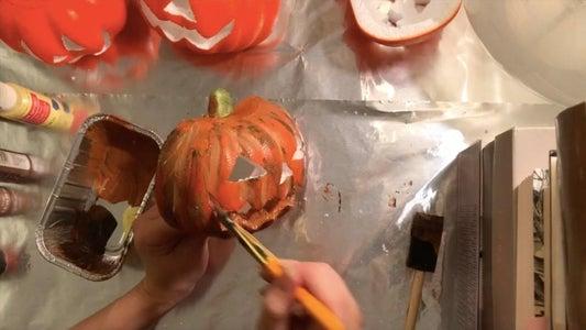 Cutting & Painting Jack-o-Lanterns