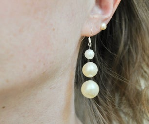 Cheap and Easy Floating Earrings