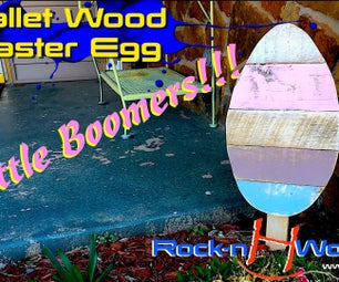 How to Make a Pallet Wood Easter Egg // Little Boomer