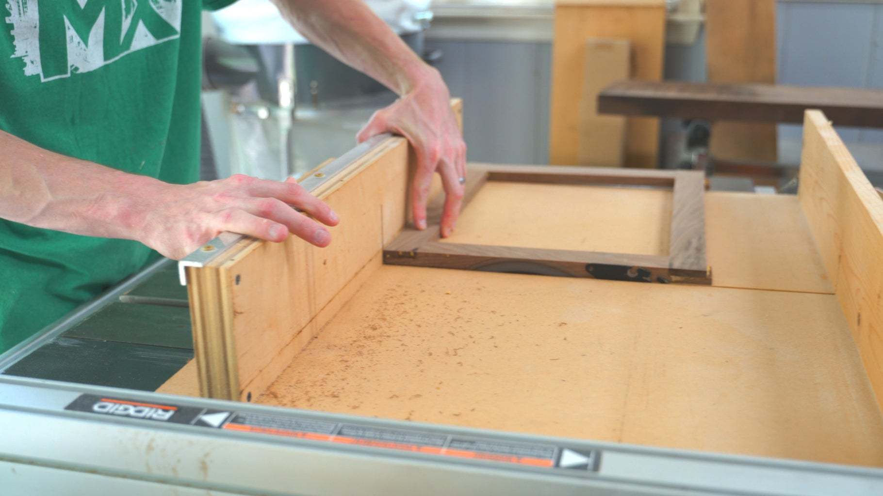 Trim the Sides of the Frame