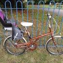 Raleigh Twenty Shopper + Child Bike Seat + Lights