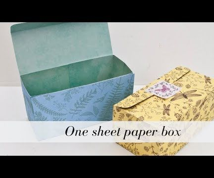 One Sheet Paper Box