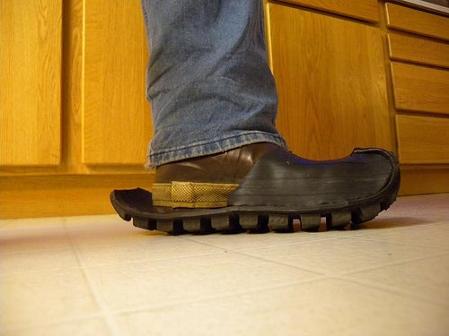 Galoshes From Inner Tubes and ATV Tire Tread