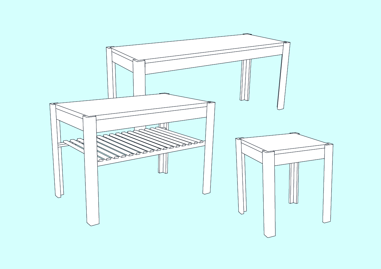 Make a simple stool/bench/coffee table/sideboard