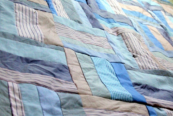 Button-up-cycle Bereavement Quilt Top