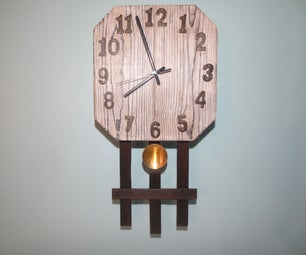 Mission Style Clock Meets Stained Shou Sugi Ban