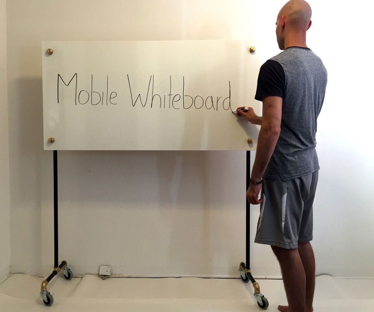 Ikea Hack Mobile Whiteboard 5 Steps With Pictures Instructables