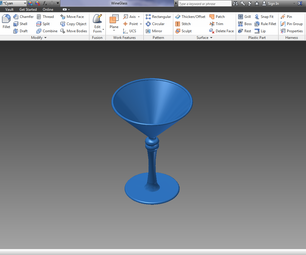 Autodesk Inventor Professional 2013 Basic Wine Glass Tutorial