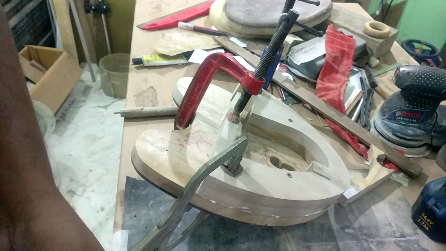 Gluing the Lock Frame Together
