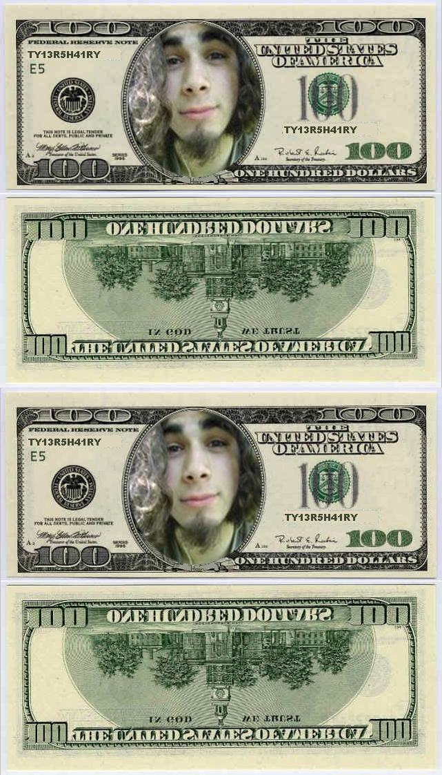 How to put a face on a dollar bill (And make mini dollar bills)