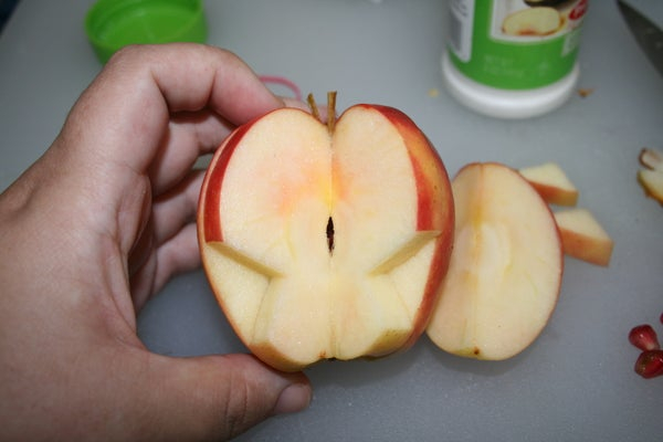 Butterfly Apple With Pomegranate Surprise