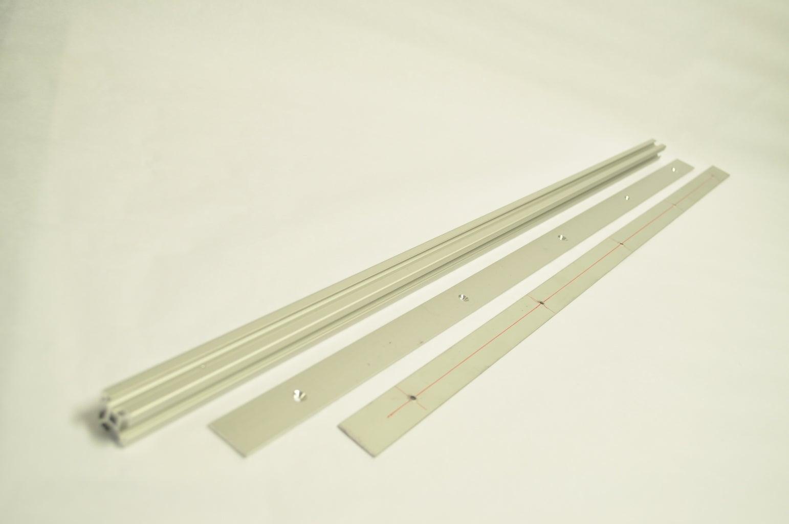 Prepare the Aluminum Strips and T-bars