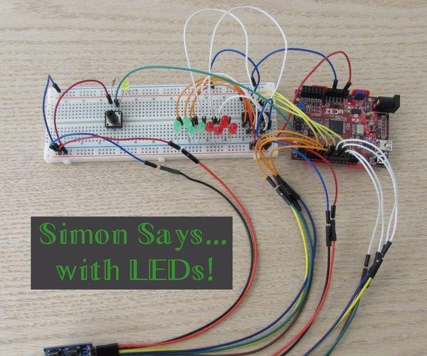 Simon Says With LEDs