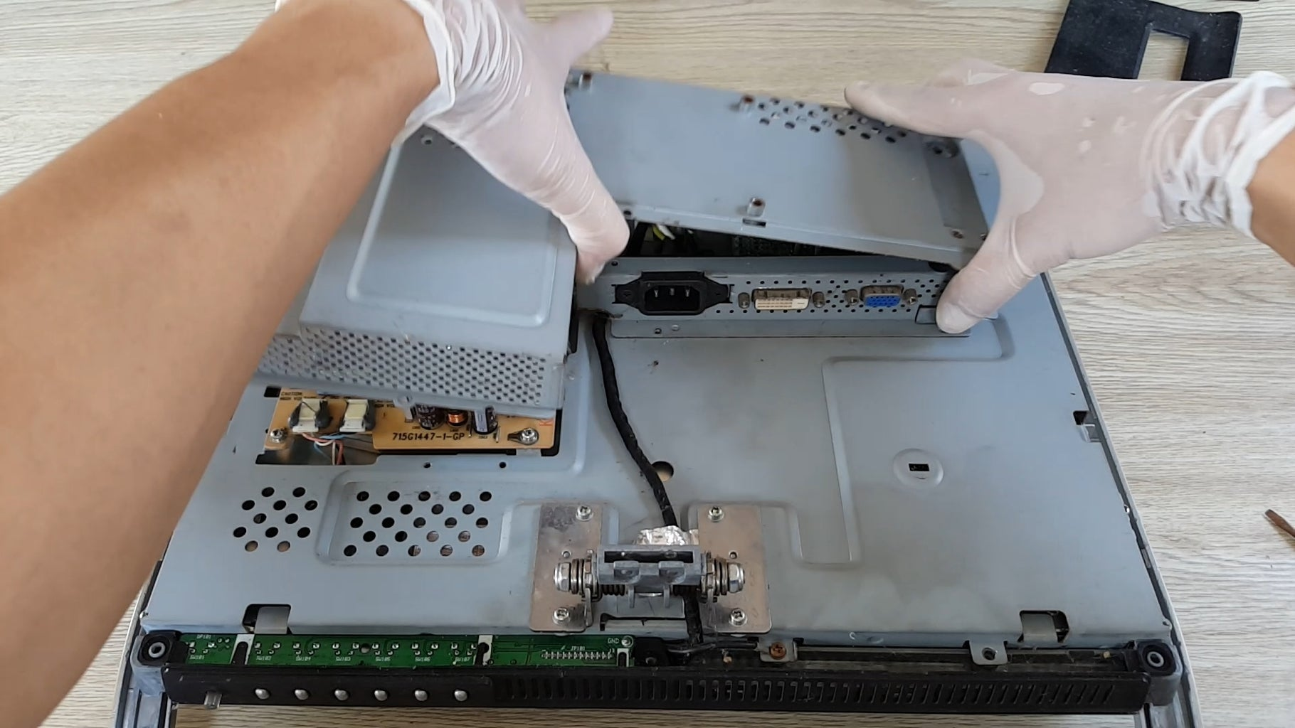 Remove Cover Case From Old LCD Screen