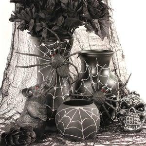 Halloween Spider Web Vases