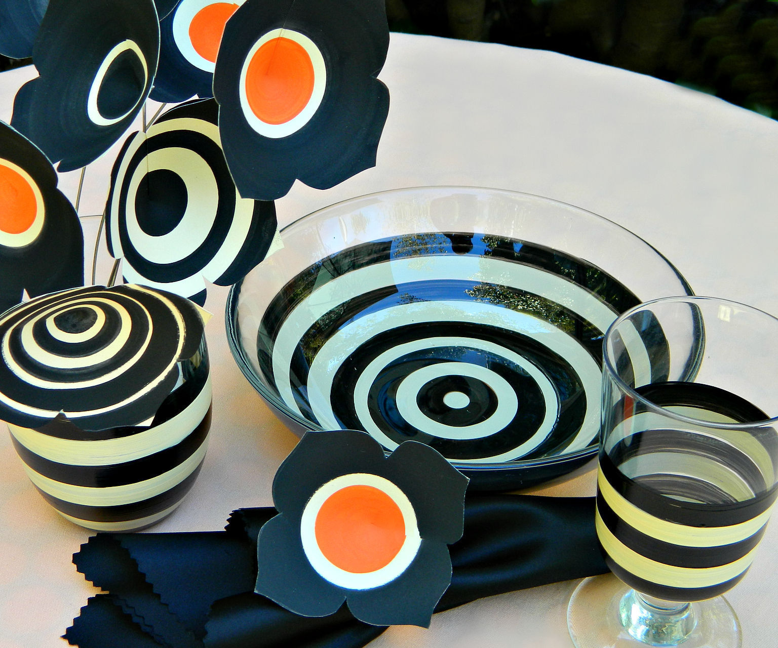 BEETLEJUICE inspired table setting