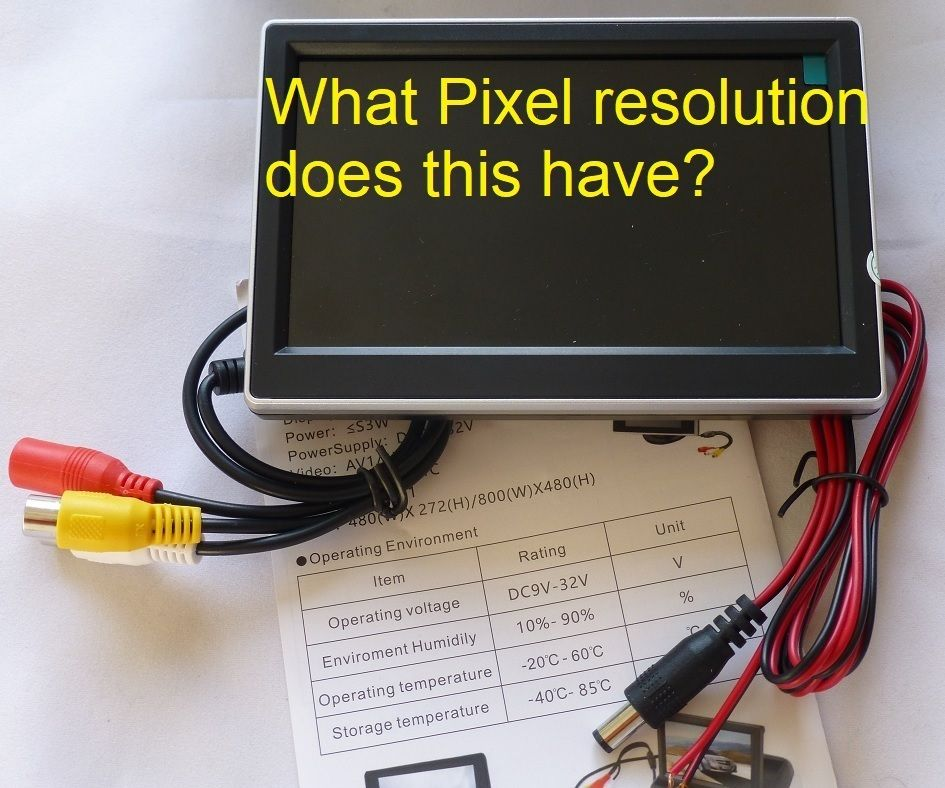 Measuring the Pixel Resolution of LCD Screens