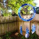Stained Glass Blue Suncatcher