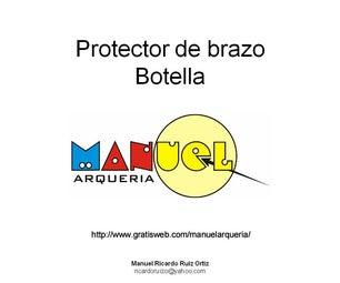 Archery. Protector De Brazo Con Botella De PET