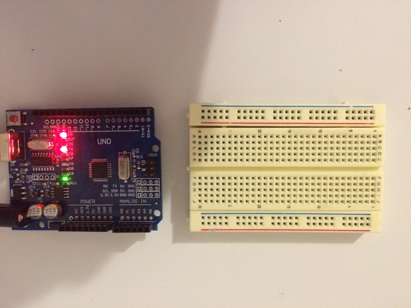 Setting Up the Breadboards