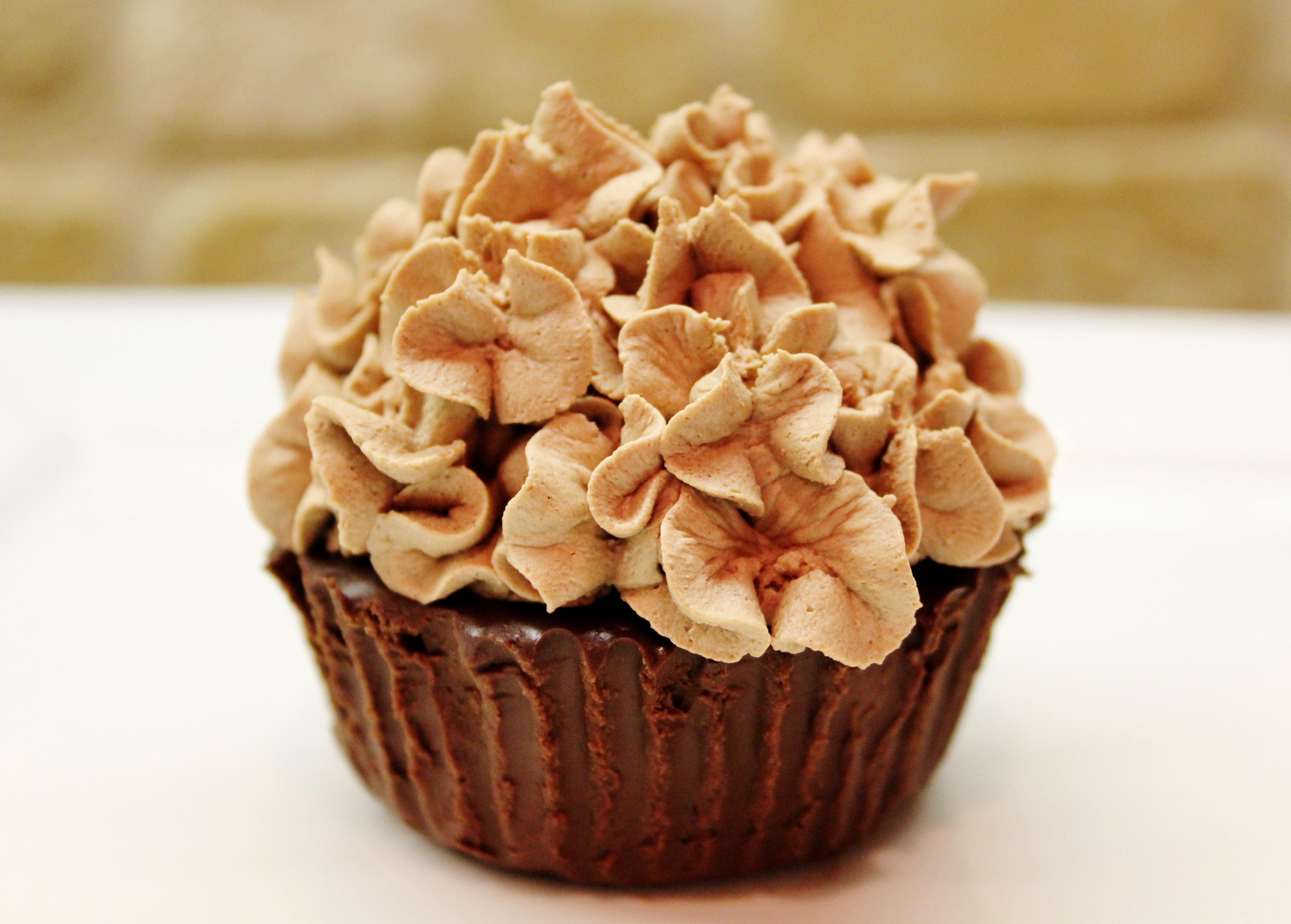 Flourless Double Chocolate Cupcakes (gluten/grain/nut/egg free)