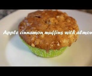 苹果桂香松饼用杏仁食谱